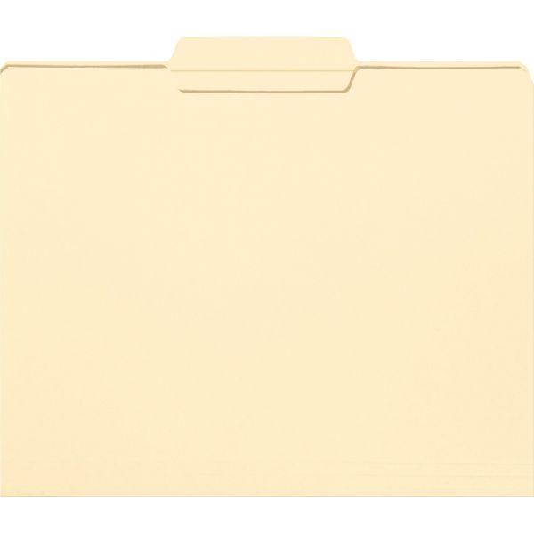 Smead File Folder, 1/3 Cut Second Position, Reinforced Top Tab Letter, Manila, 100/Box