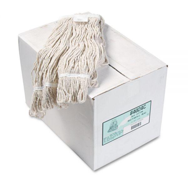 Boardwalk Pro Loop Web/Tailband Wet Mop Head, Cotton, 12/Carton