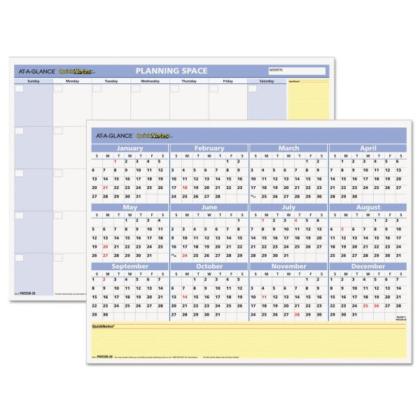 At-A-Glance QuickNotes Compact Monthly/Yearly Wall Calendar