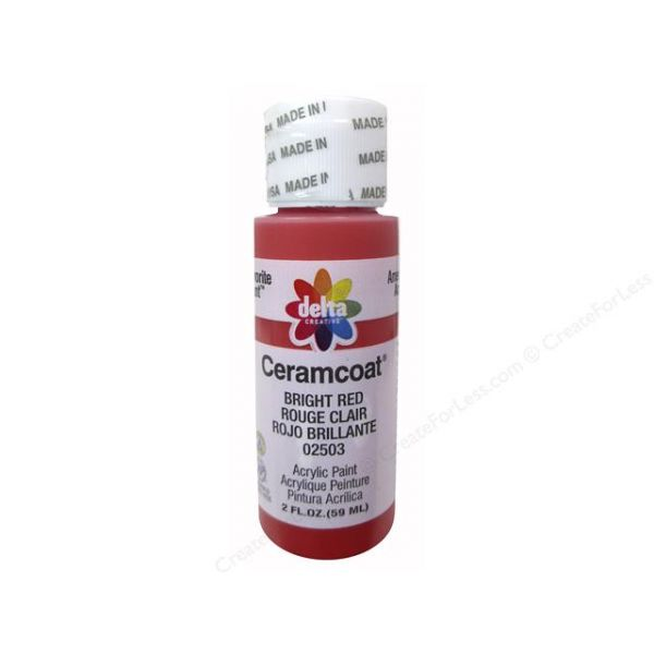 Ceramcoat Bright Red Acrylic Paint