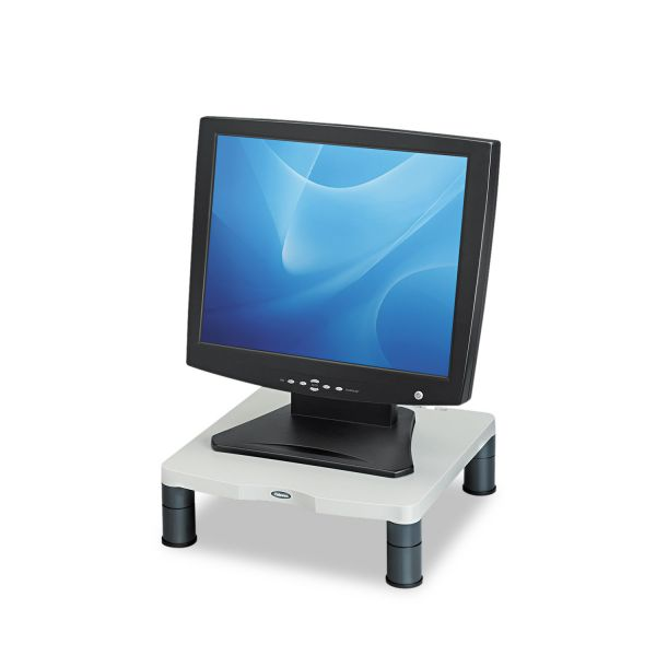 Fellowes Standard Monitor Riser, 13 1/8 x 13 1/2 x 2, Platinum/Graphite