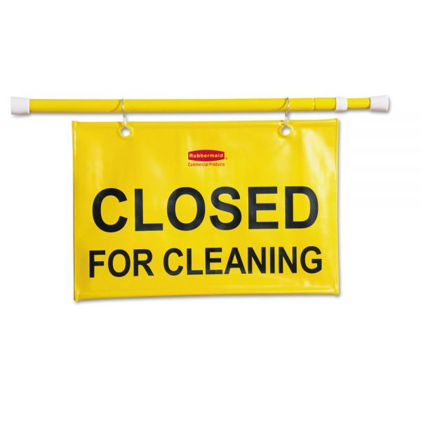 Rubbermaid Commercial Site Safety Hanging Sign, 50w x 1d x 13h, Yellow