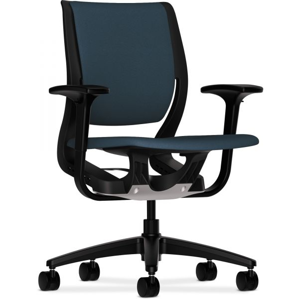 HON Purpose Series Mid-Back Chair with Black Frame