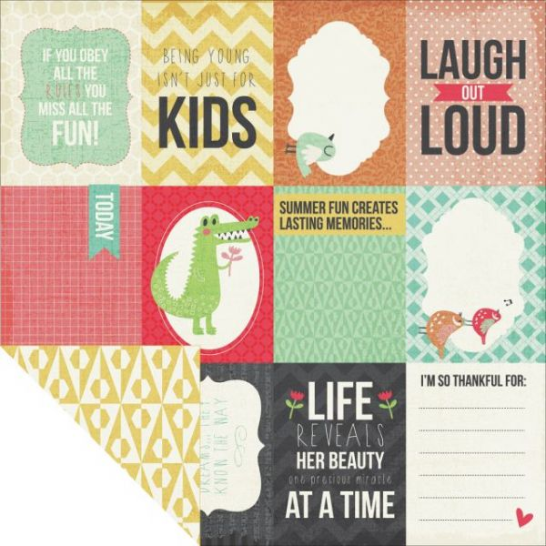 """Hello Sunshine Double-Sided Cardstock 12""""X12"""""""