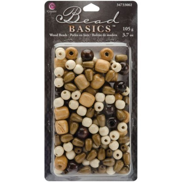 Jewelry Basics Wood Beads 3.7oz