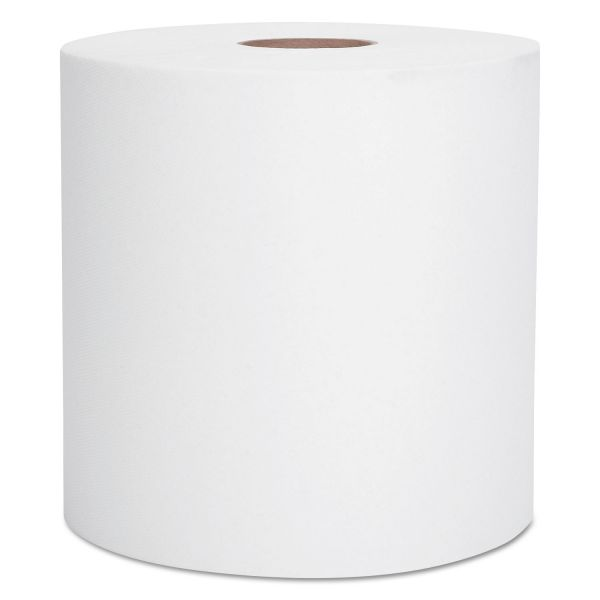 Scott Hard Roll Paper Towels, 8 x 400 ft, 1-Ply, White, 12 Rolls/Carton