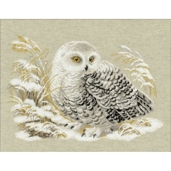 Riolis White Owl Counted Cross Stitch Kit