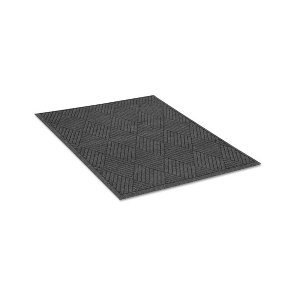 Guardian EcoGuard Diamond Floor Mat, Rectangular, 36 x 60 Charcoal