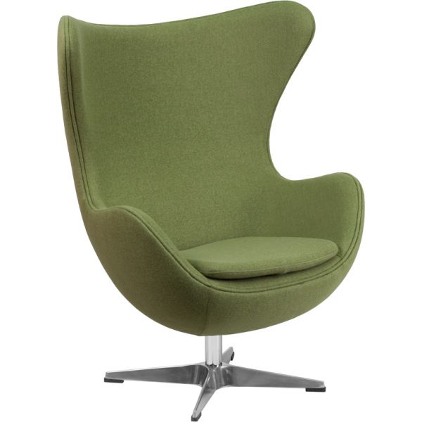 Flash Furniture Wool Egg Chair with Tilt-Lock Mechanism