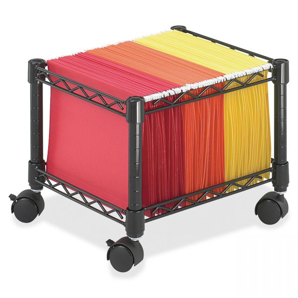 Safco Mini Mobile Wire File Cart