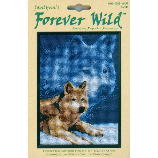 Janlynn Forever Wild Wolf Mini Counted Cross Stitch Kit