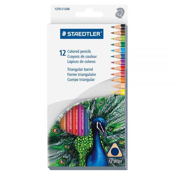 Staedtler 1270 Triangular Colored Pencils
