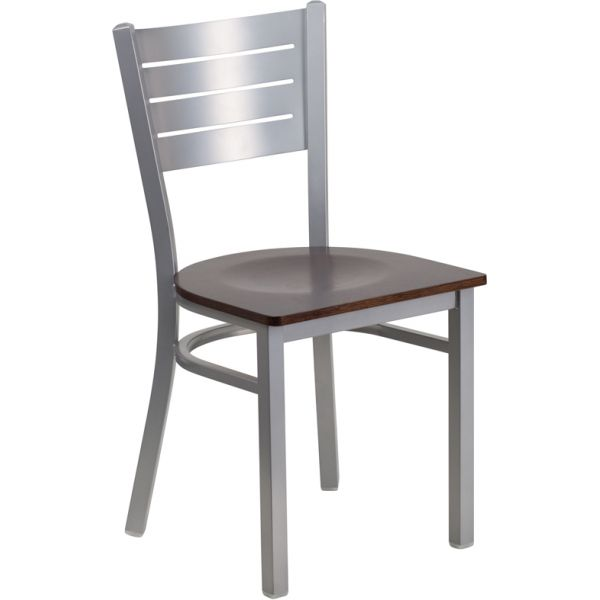 Flash Furniture Slat Back Metal Restaurant Chair [XU-DG-60401-WALW-GG ]