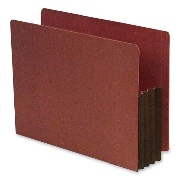 SJ Paper End Tab Redrope Expanding File Pockets