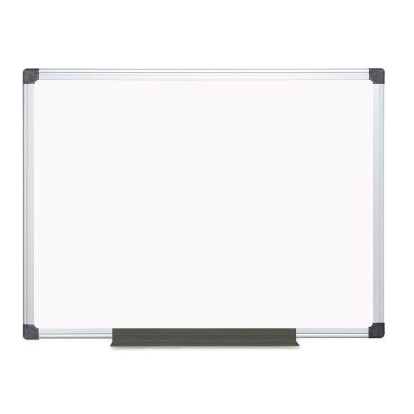 MasterVision Porcelain Value Dry Erase Board, 36 x 48, White, Aluminum Frame