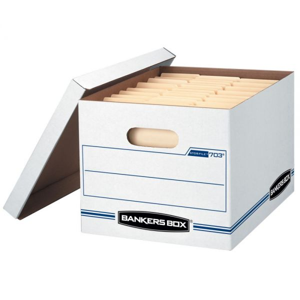 Bankers Box Stor/File Basic Duty Storage Boxes with Lift-Off Lids - 288 Boxes/Pallet