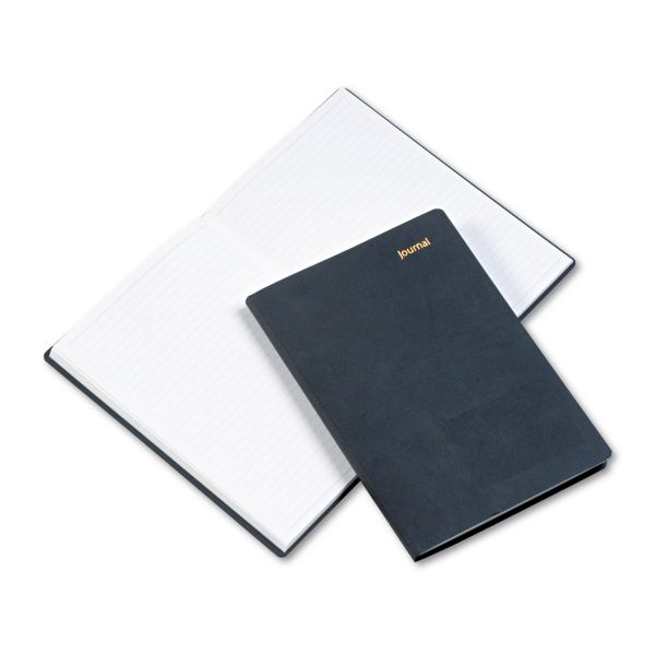 Day-Timer Leatherlike Journal, Black Polyurethane Cover, 160 Pgs, 5 1/2 x 7 3/4