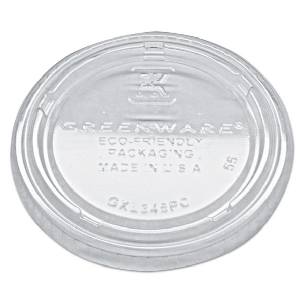 Fabri-Kal Portion Cup Lids, Fits 3.25-5.5oz Cups, Clear, 2500/Carton