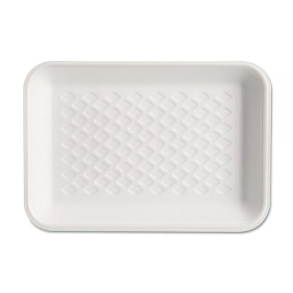 Genpak Supermarket Tray, Foam, White, 8-1/4x5-3/4x1, 125/Bag