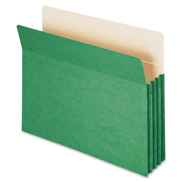 Smead 73226 Green Colored File Pocket