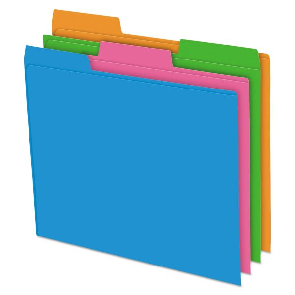 Pendaflex Glow Poly File Folders