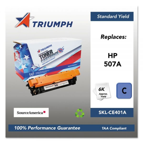 Triumph Remanufactured HP 507A (CE401A) Toner Cartridge