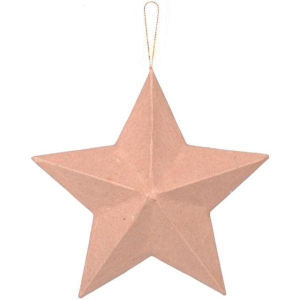 Paper-Mache Star Ornament