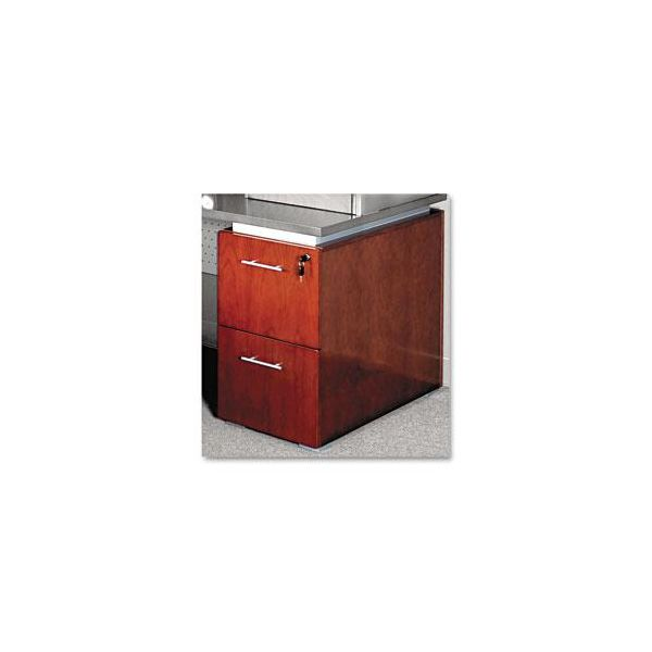 Tiffany Industries Eclipse Series File/File Pedestal for Desk Top, Warm Cherry