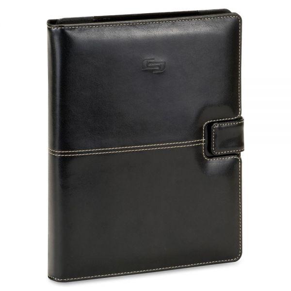 "Solo Vintage Carrying Case (Book Fold) for 11"" Tablet, Digital Text Reader - Black"