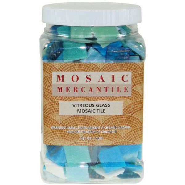 Vitreous Glass Mosaic Tiles 2.5lb