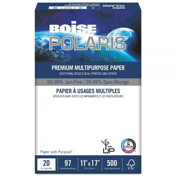 """Boise POLARIS Premium Multi-Purpose White 11"""" x 17"""" Copy Paper"""