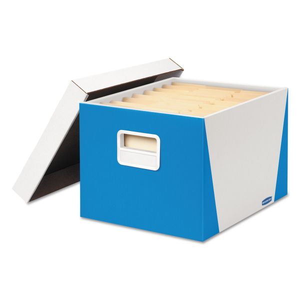 Bankers Box Premier Stor/File Medium Duty Storage Boxes With Lift-Off Lids