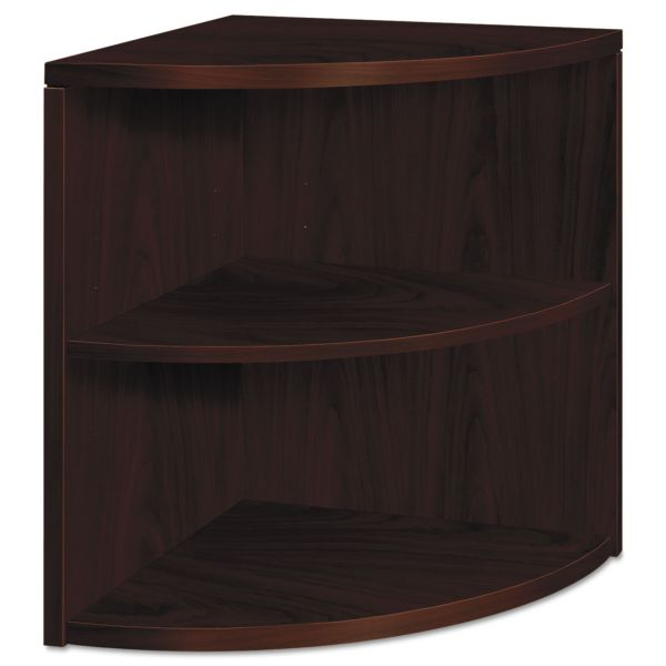 HON 10500 Series Two-Shelf End Cap Bookshelf, 24w x 24d x 29-1/2h, Mahogany