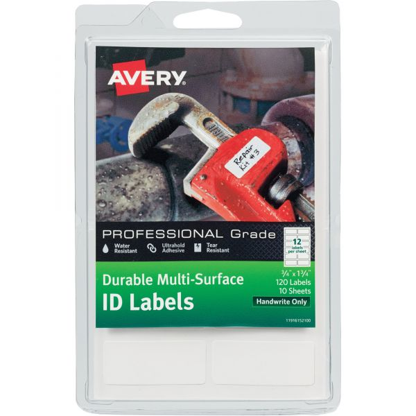 Avery Permanent Durable Multi-Surface ID Labels