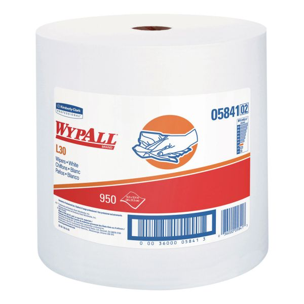 WypAll* L30 Towels, 12 2/5 x 13 3/10, White,