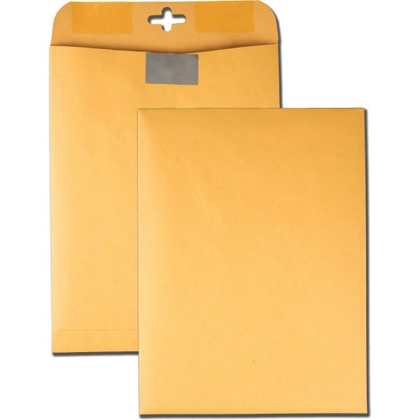 "Quality Park Redi-Tac Gummed 9"" x 12"" Clasp Envelopes"