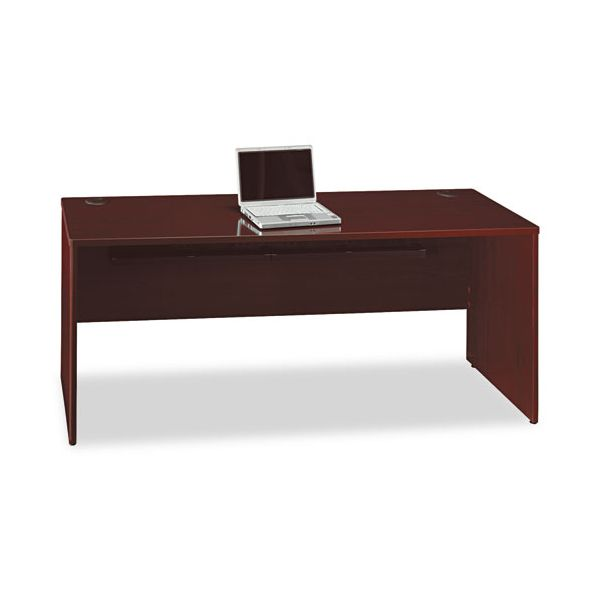 Bush Furniture Quantum Series Credenza, 72w x 24d x 30h, Harvest Cherry Frame/Top
