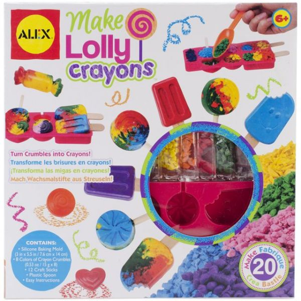ALEX Toys Make Your Own Lollypop Crayons Kit