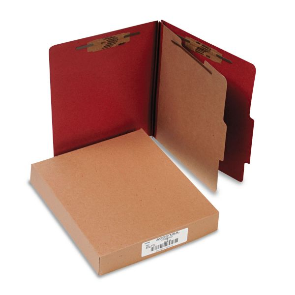 Acco 1-Divider Pressboard Classification Folders