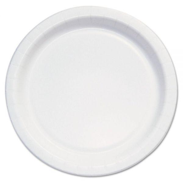"Dart Bare Eco-Forward Clay-Coated Paper Plate,6""Dia, White/Brown/Green, 1000/Carton"