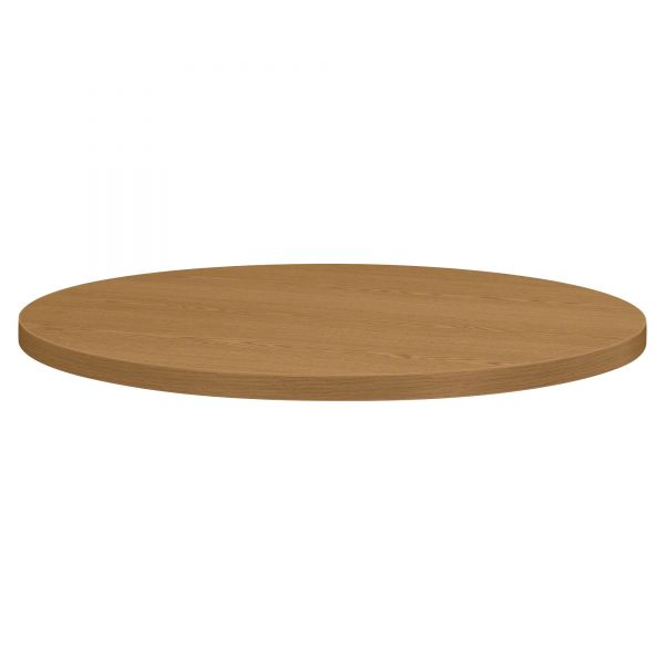 "HON Self-Edge Round Hospitality Table Top, 30"" Diameter, Harvest"