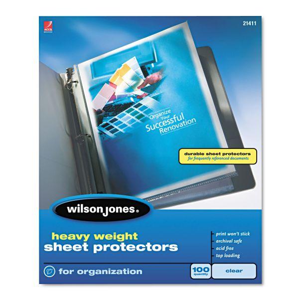 Wilson Jones Top Loading Heavy Weight Sheet Protectors
