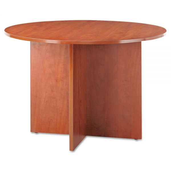 Alera Alera Valencia Round Conference Table w/Legs, 29 1/2h x 42 dia., Medium Cherry