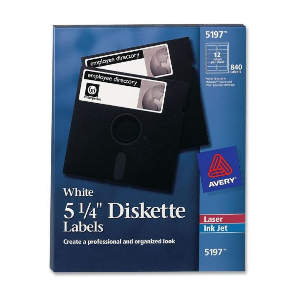 "Avery 5.25"" Diskette Labels"
