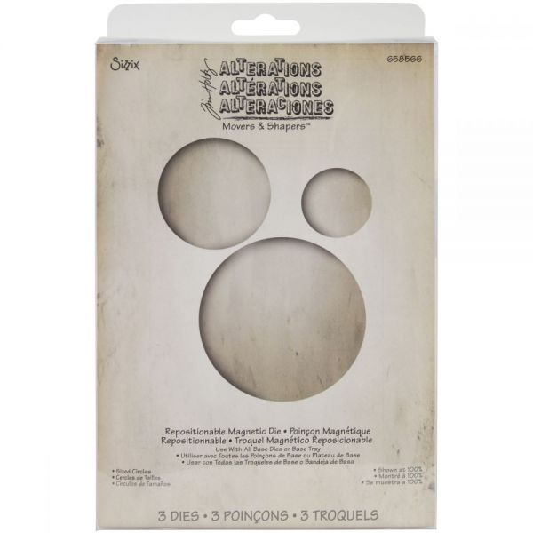 Sizzix Movers & Shapers Magnetic Dies By Tim Holtz 3/Pkg