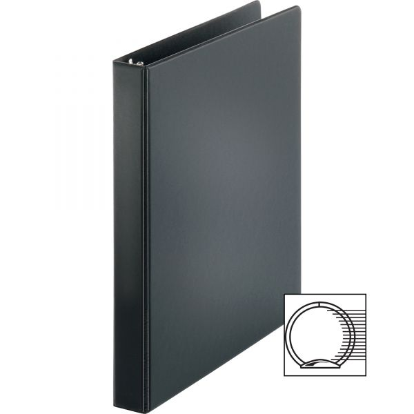 "Business Source Vinyl 1"" 3-Ring Binder"