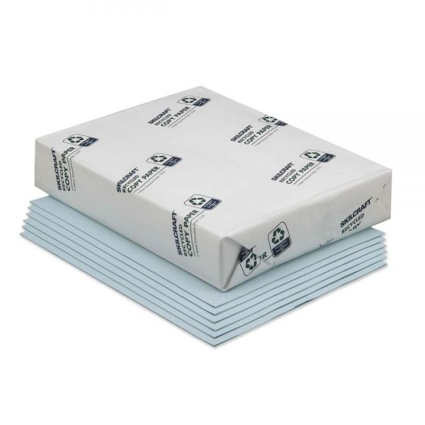 SKILCRAFT Recycled Colored Paper - Blue