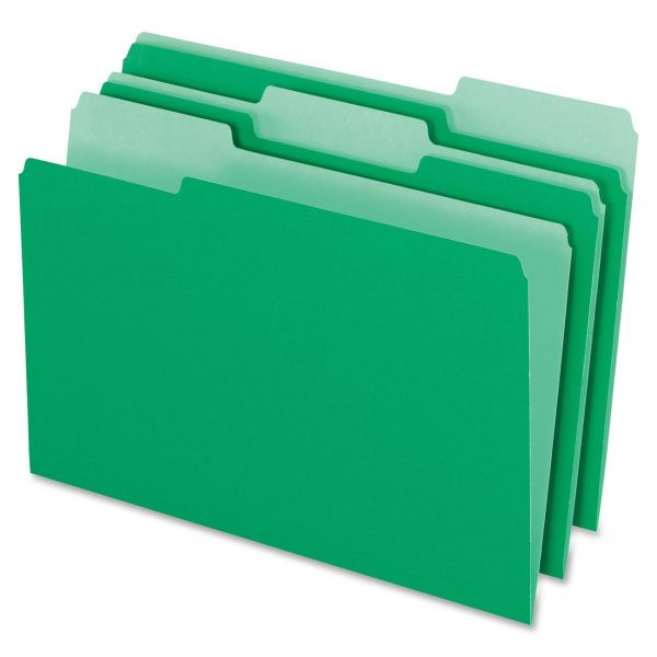 Pendaflex Green Colored File Folders