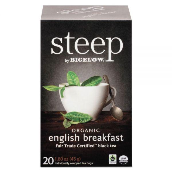 Bigelow steep Tea, English Breakfast, 1.6 oz Tea Bag, 20/Box