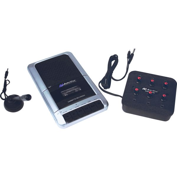 AmpliVox Cassette Recorder Eight-Station Listening Center